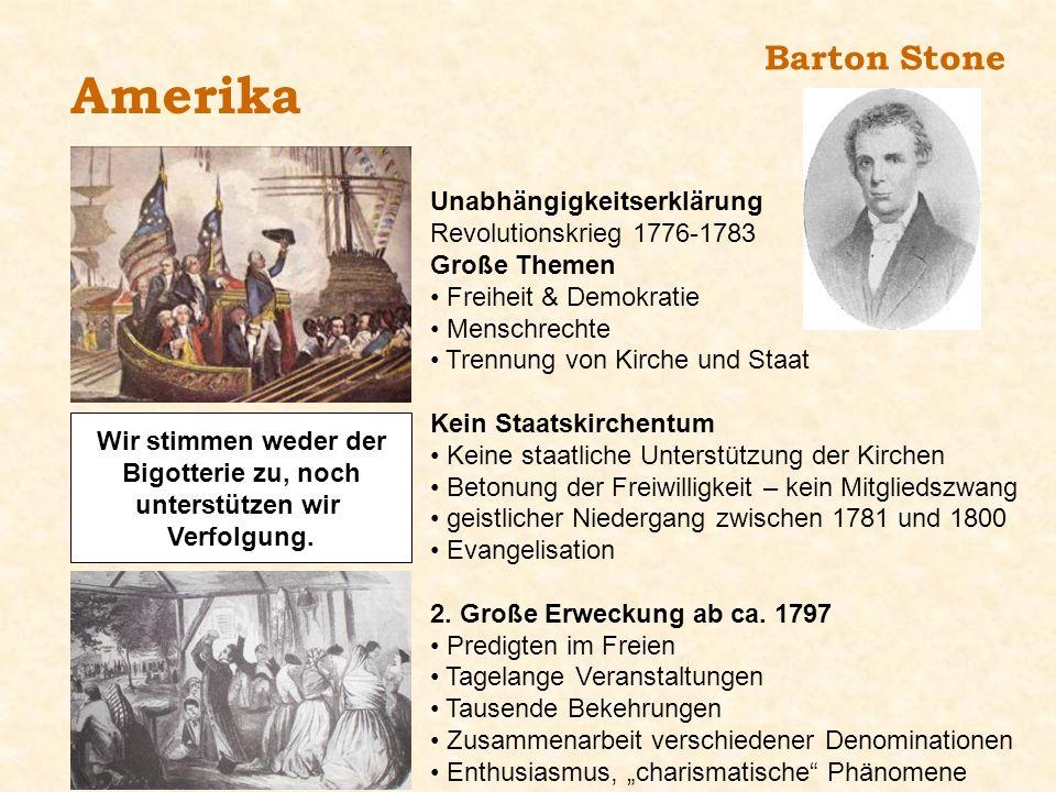 Amerika Barton Stone Unabhängigkeitserklärung
