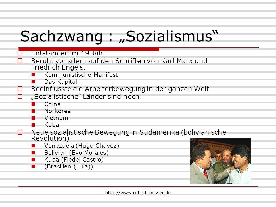 "Sachzwang : ""Sozialismus"
