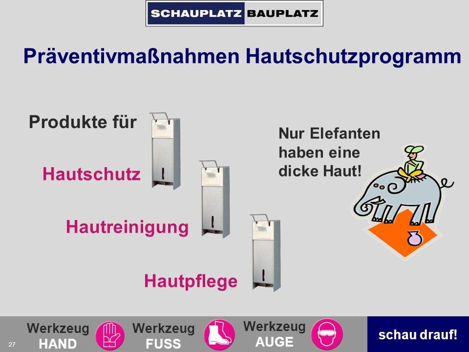 Präventivmaßnahmen Hautschutzprogramm