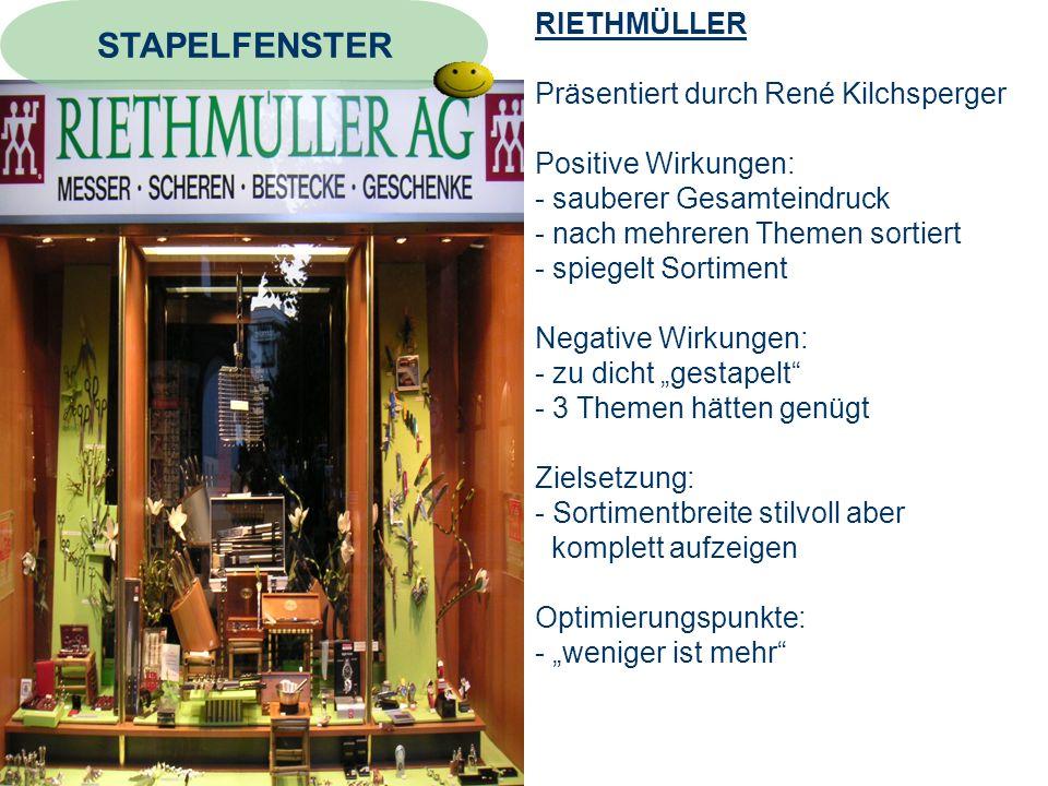 STAPELFENSTER RIETHMÜLLER Präsentiert durch René Kilchsperger