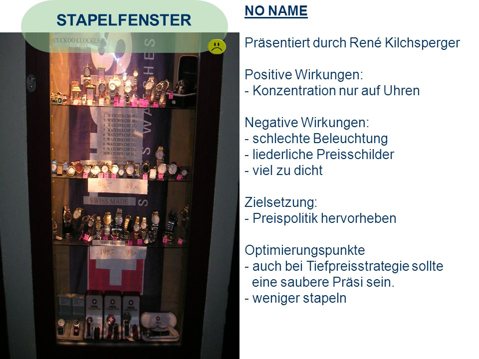 STAPELFENSTER NO NAME Präsentiert durch René Kilchsperger