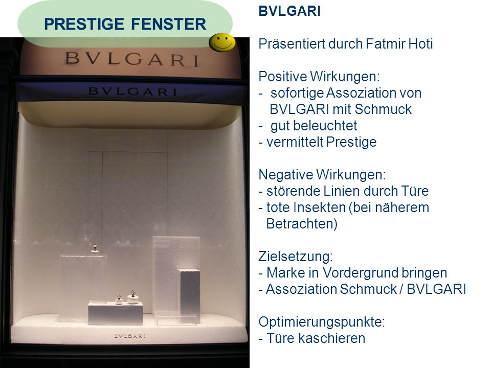 PRESTIGE FENSTER BVLGARI Präsentiert durch Fatmir Hoti