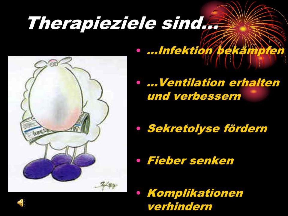 Therapieziele sind… …Infektion bekämpfen
