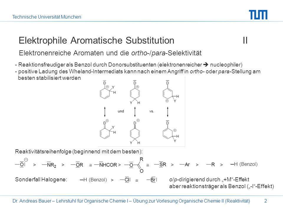 Elektrophile Aromatische Substitution II