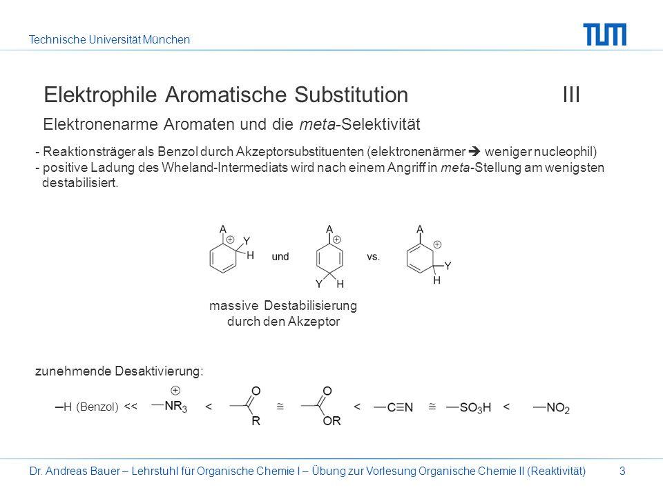 Elektrophile Aromatische Substitution III