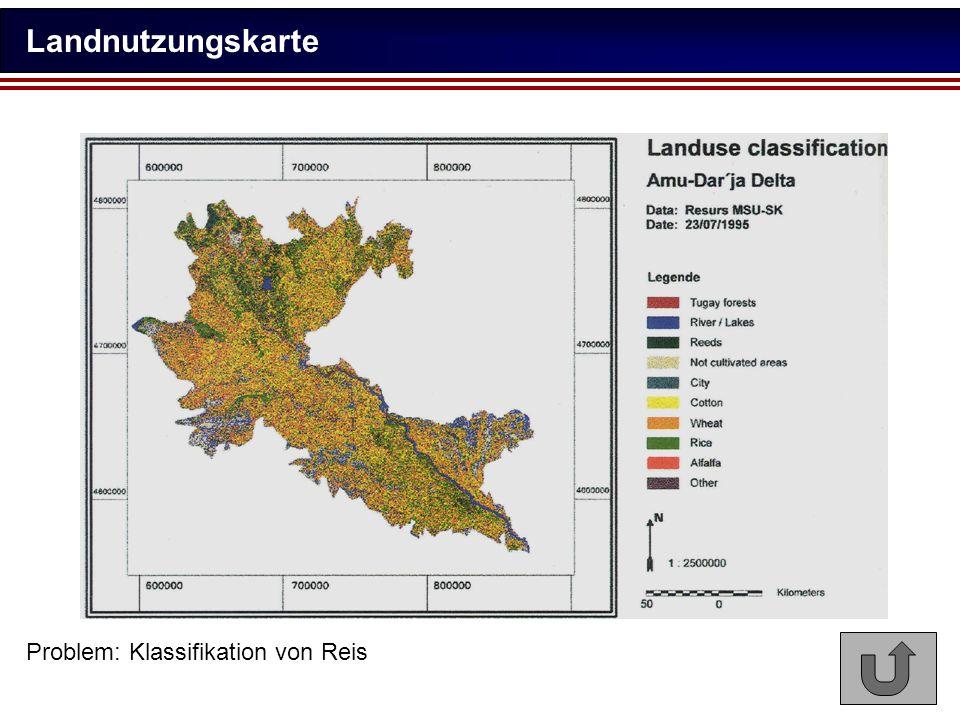 Landnutzungskarte Problem: Klassifikation von Reis