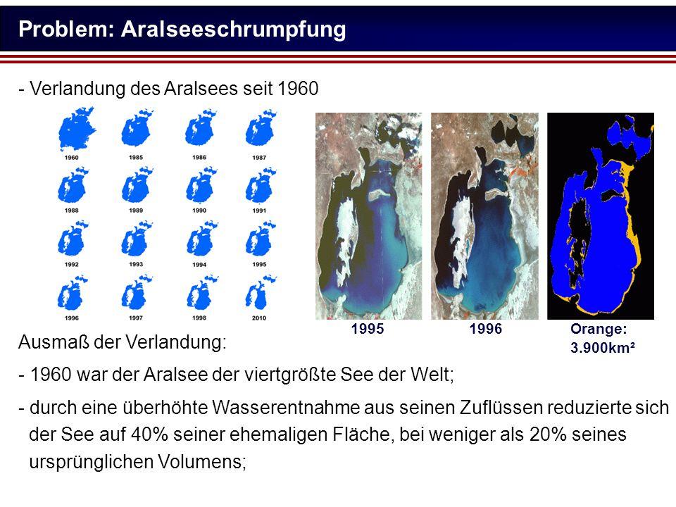 Problem: Aralseeschrumpfung