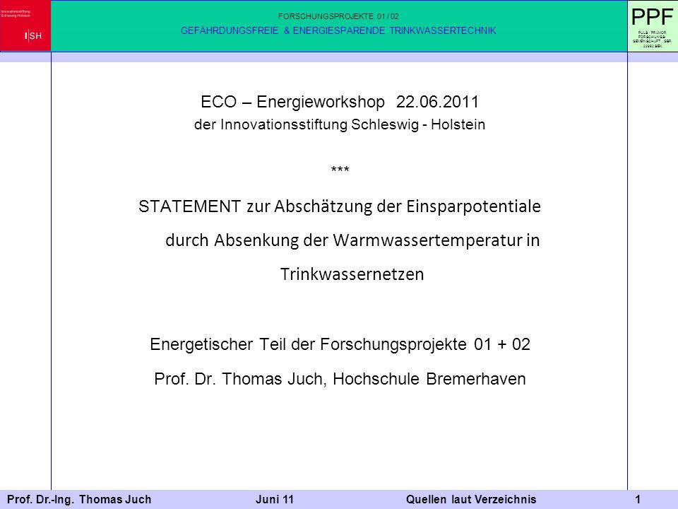 PPF ECO – Energieworkshop 22.06.2011 ***