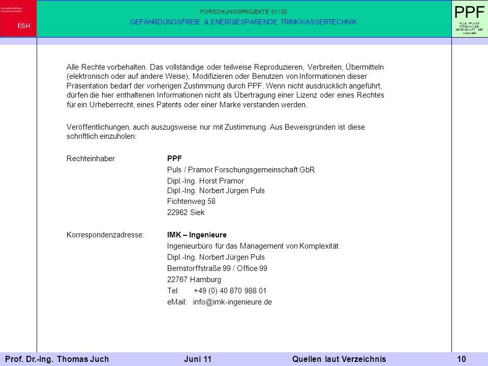 GEFÄHRDUNGSFREIE & ENERGIESPARENDE TRINKWASSERTECHNIK