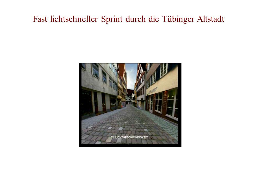 Fast lichtschneller Sprint durch die Tübinger Altstadt