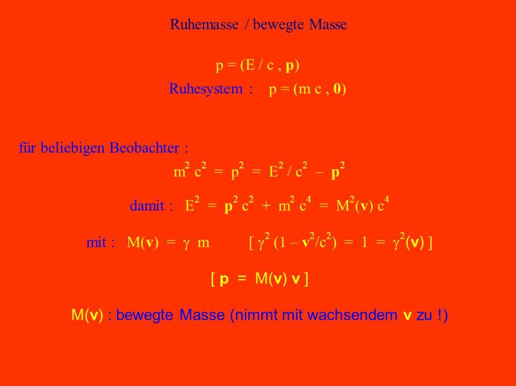 Ruhemasse / bewegte Masse