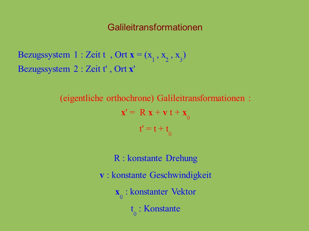 Galileitransformationen