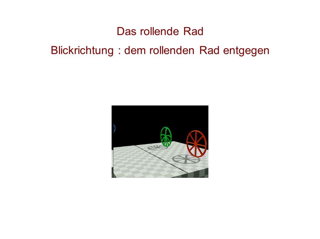 Das rollende Rad Blickrichtung : dem rollenden Rad entgegen