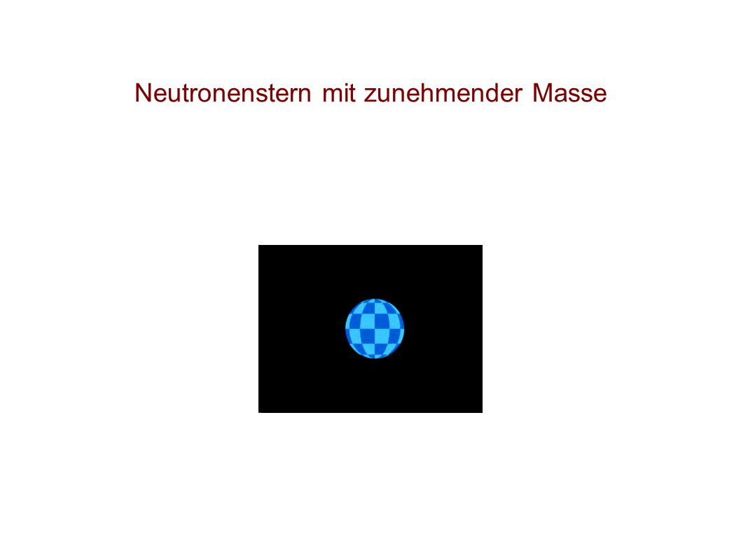 Neutronenstern mit zunehmender Masse