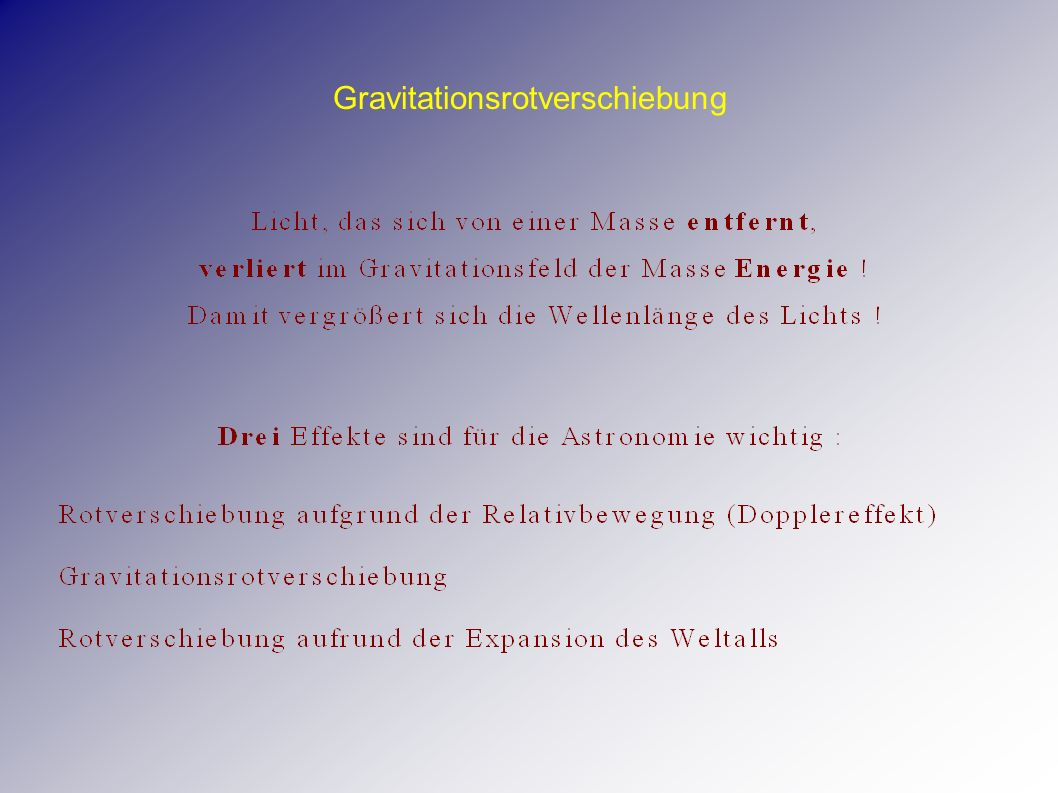 Gravitationsrotverschiebung