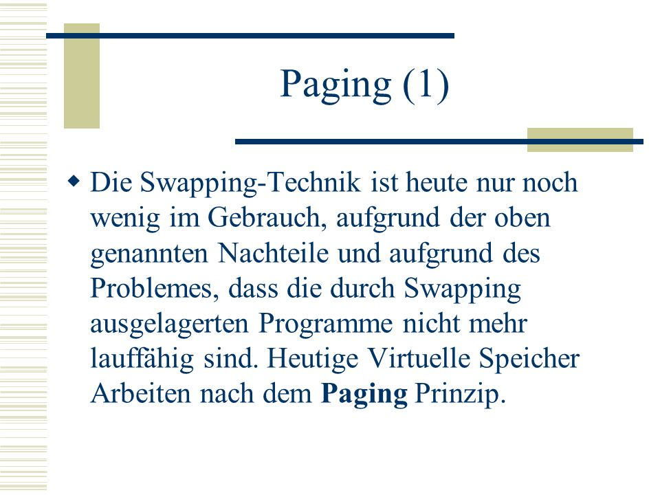 Paging (1)