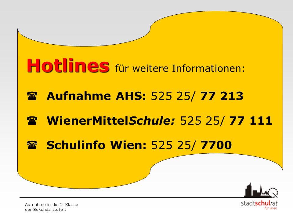 Hotlines für weitere Informationen:
