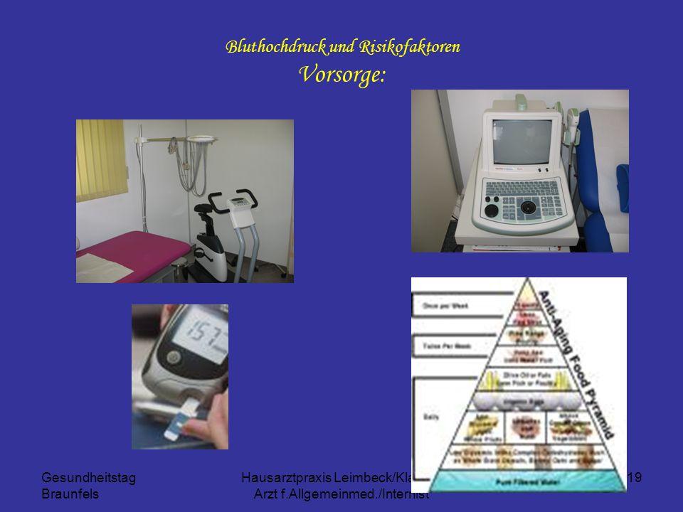 Bluthochdruck und Risikofaktoren Vorsorge: