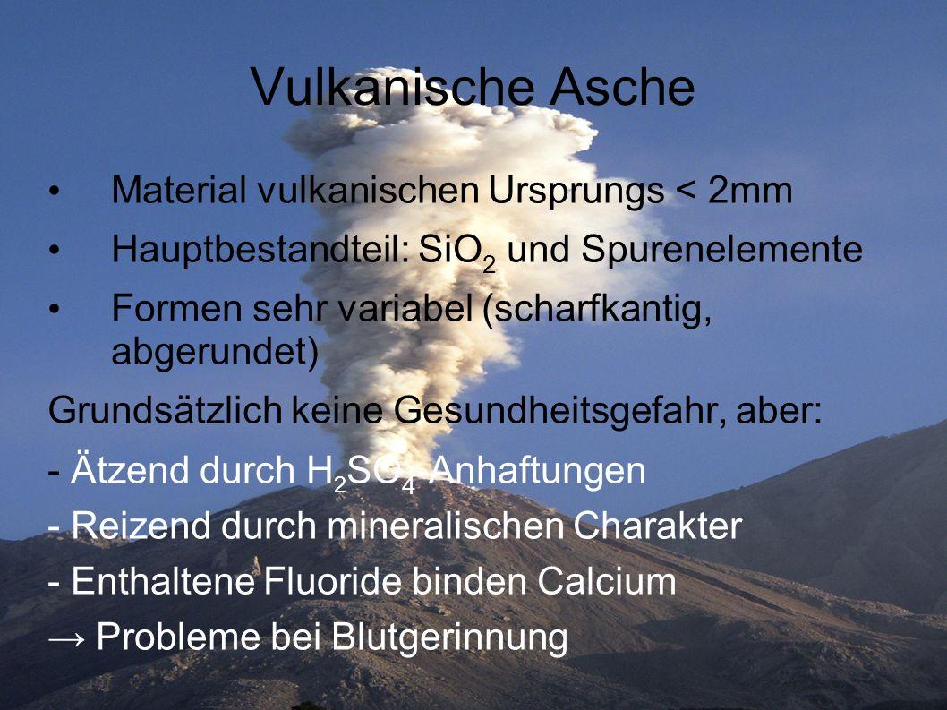 Vulkanische Asche Material vulkanischen Ursprungs < 2mm