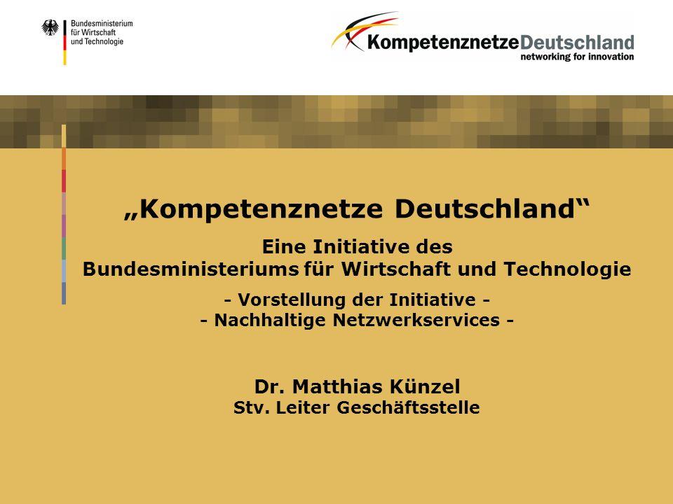"""""""Kompetenznetze Deutschland"""