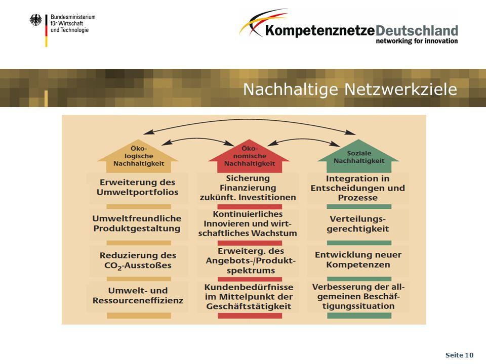 Nachhaltige Netzwerkziele