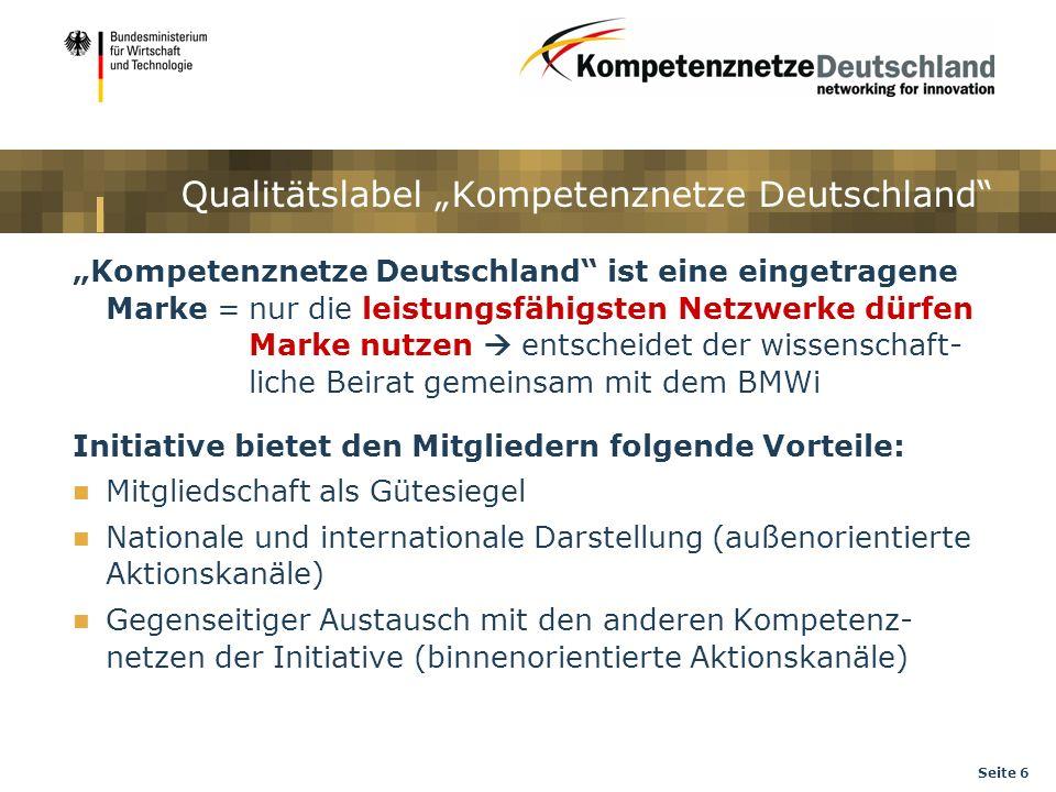 """Qualitätslabel """"Kompetenznetze Deutschland"""