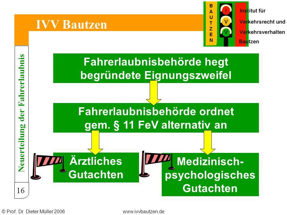 IVV Bautzen Fahrerlaubnisbehörde hegt begründete Eignungszweifel