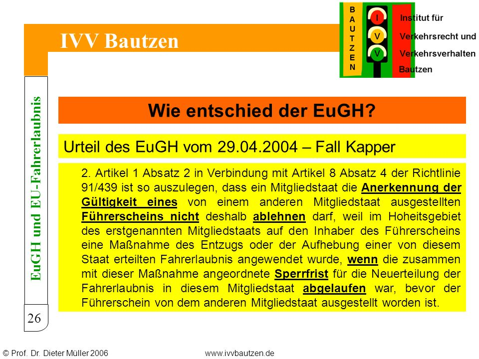 EuGH und EU-Fahrerlaubnis