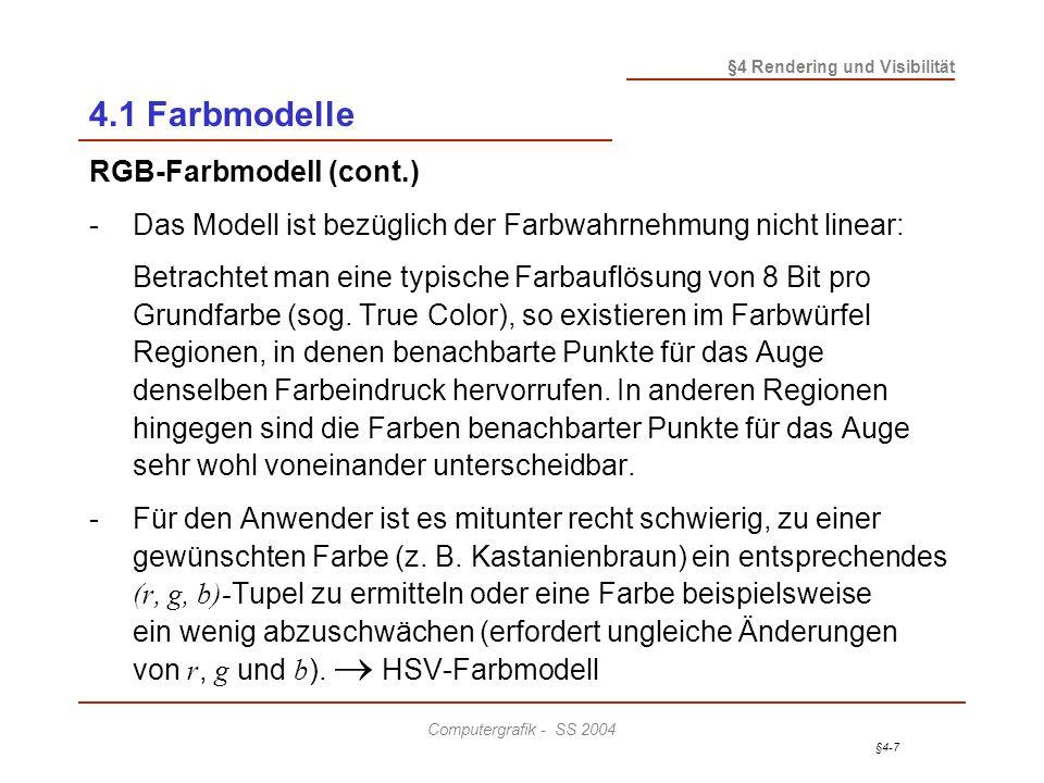 4.1 Farbmodelle RGB-Farbmodell (cont.)