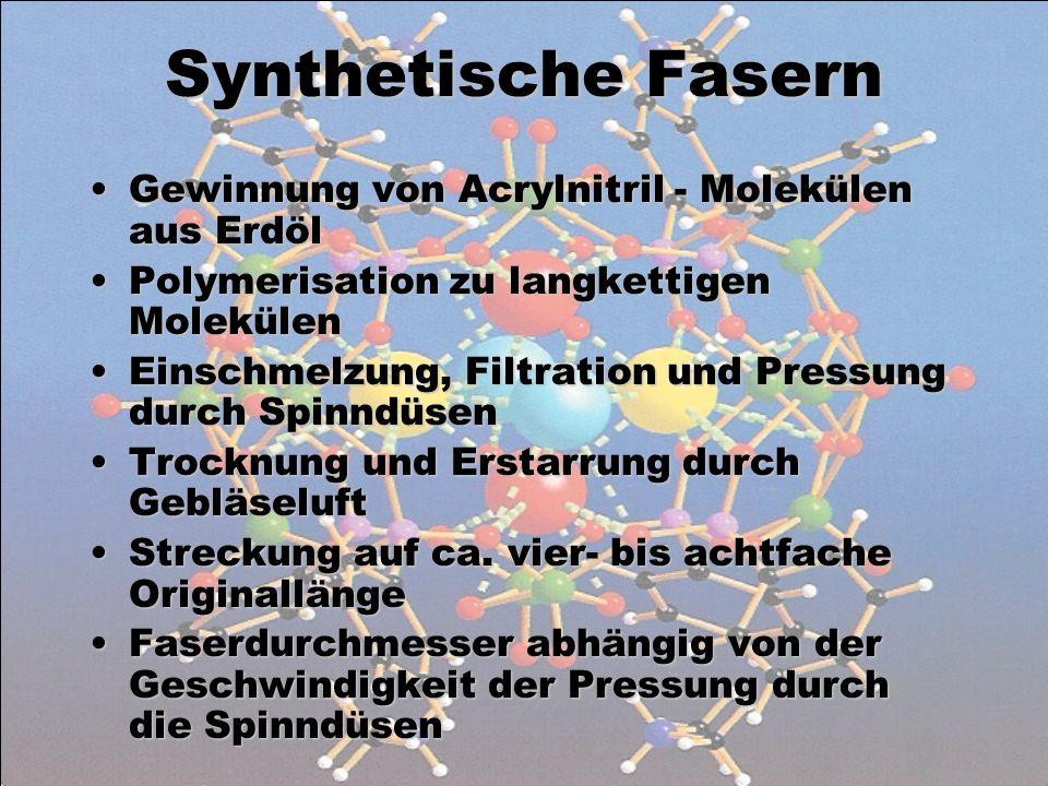 Synthetische Fasern Gewinnung von Acrylnitril - Molekülen aus Erdöl