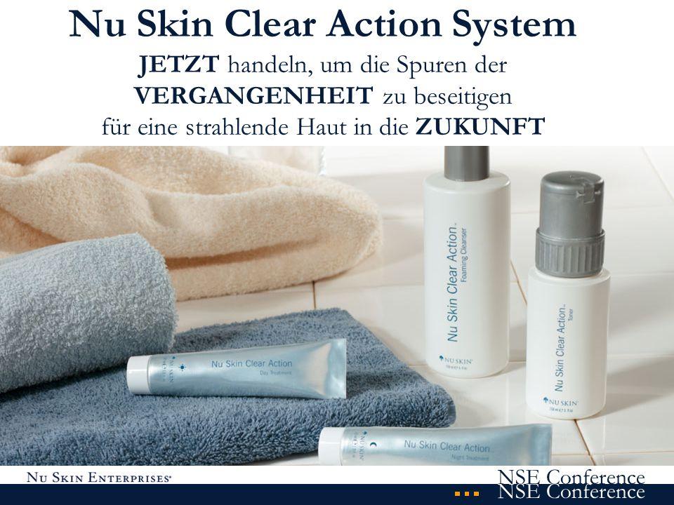 Nu Skin Clear Action System JETZT handeln, um die Spuren der VERGANGENHEIT zu beseitigen für eine strahlende Haut in die ZUKUNFT