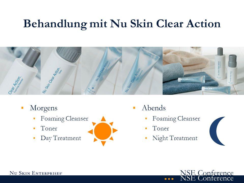 Behandlung mit Nu Skin Clear Action
