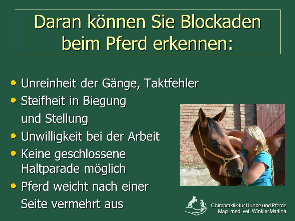 Daran können Sie Blockaden beim Pferd erkennen: