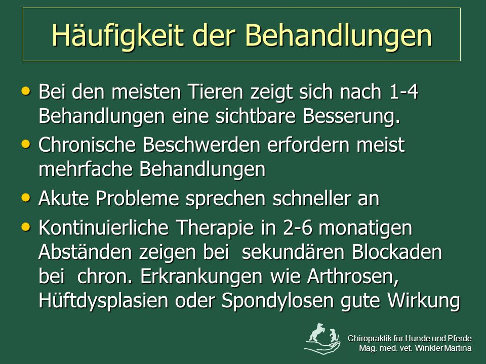 Häufigkeit der Behandlungen