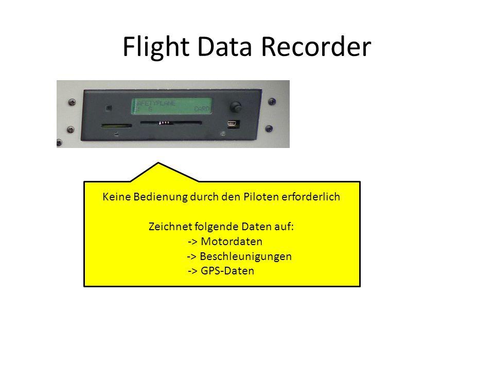 Flight Data Recorder Keine Bedienung durch den Piloten erforderlich