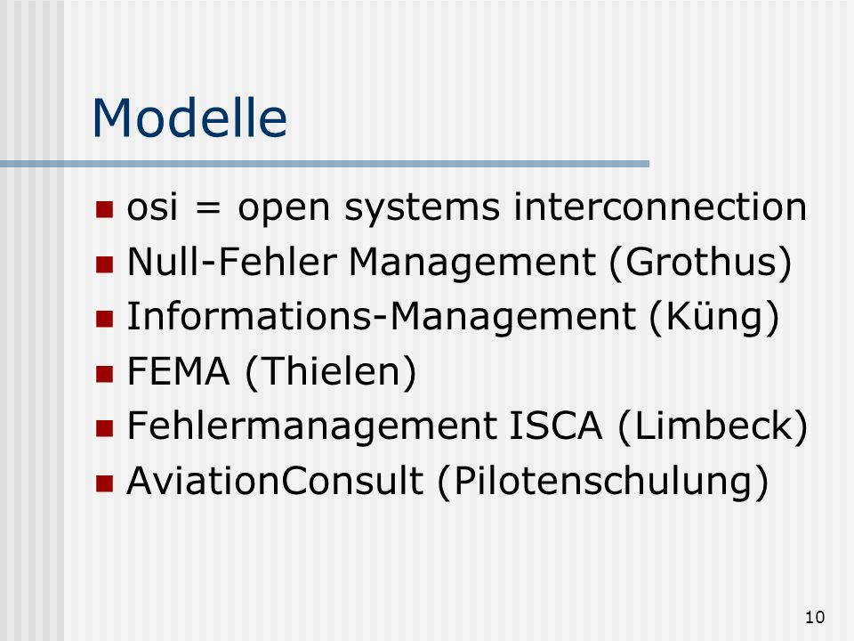 Modelle osi = open systems interconnection