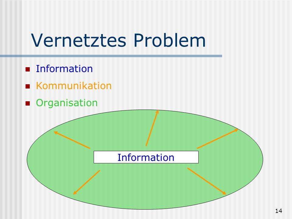 Vernetztes Problem Information Kommunikation Organisation Information