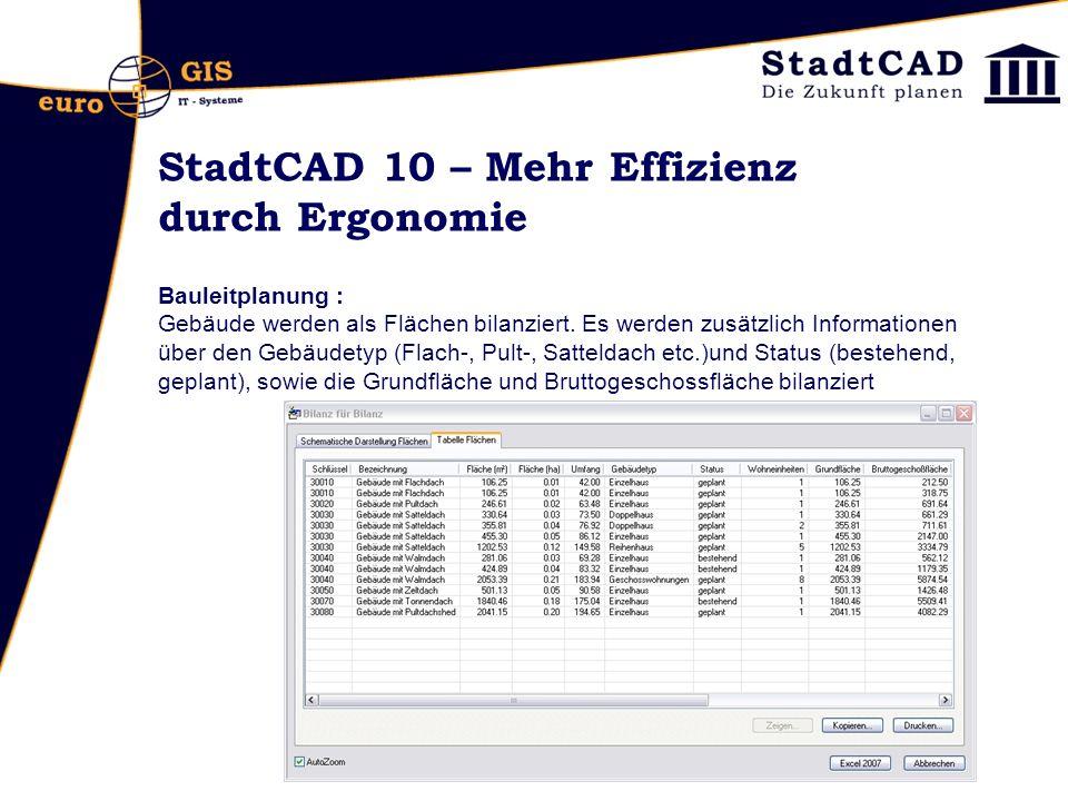 StadtCAD 10 – Mehr Effizienz durch Ergonomie