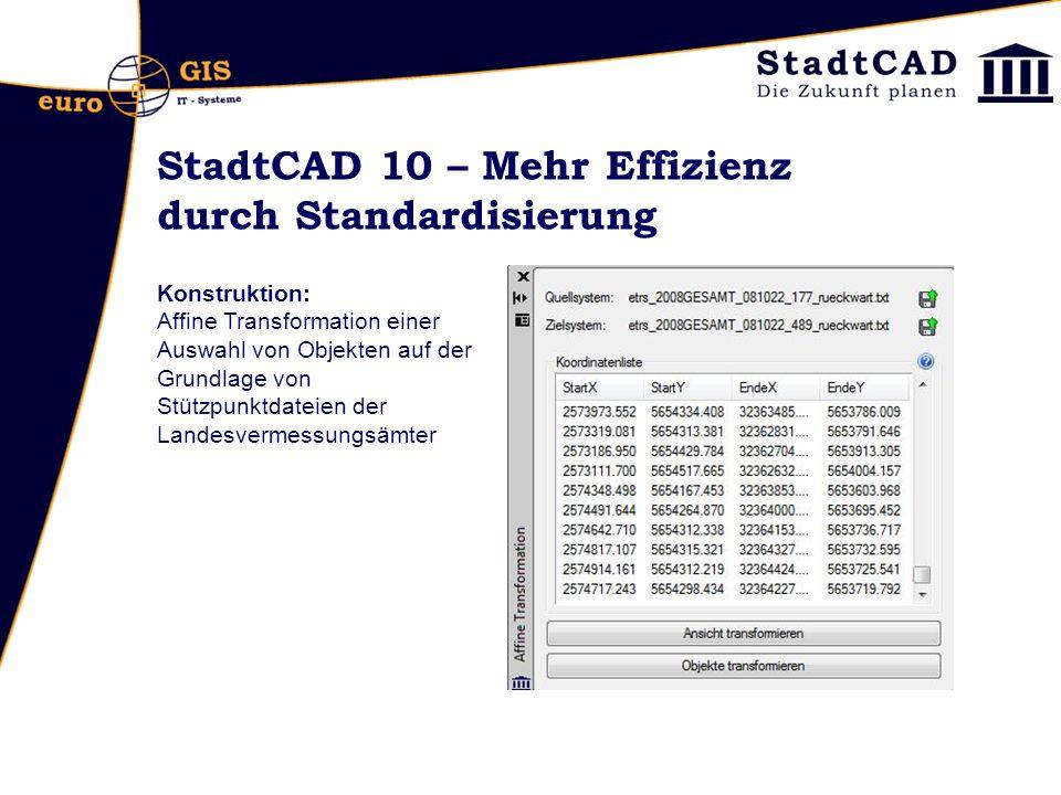 StadtCAD 10 – Mehr Effizienz durch Standardisierung