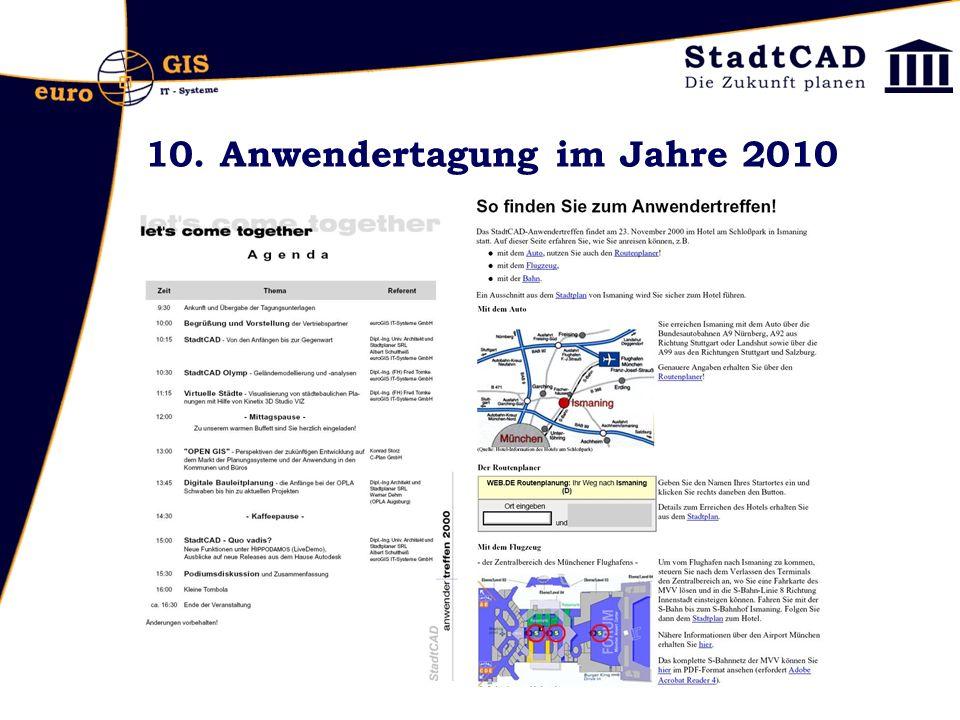 10. Anwendertagung im Jahre 2010