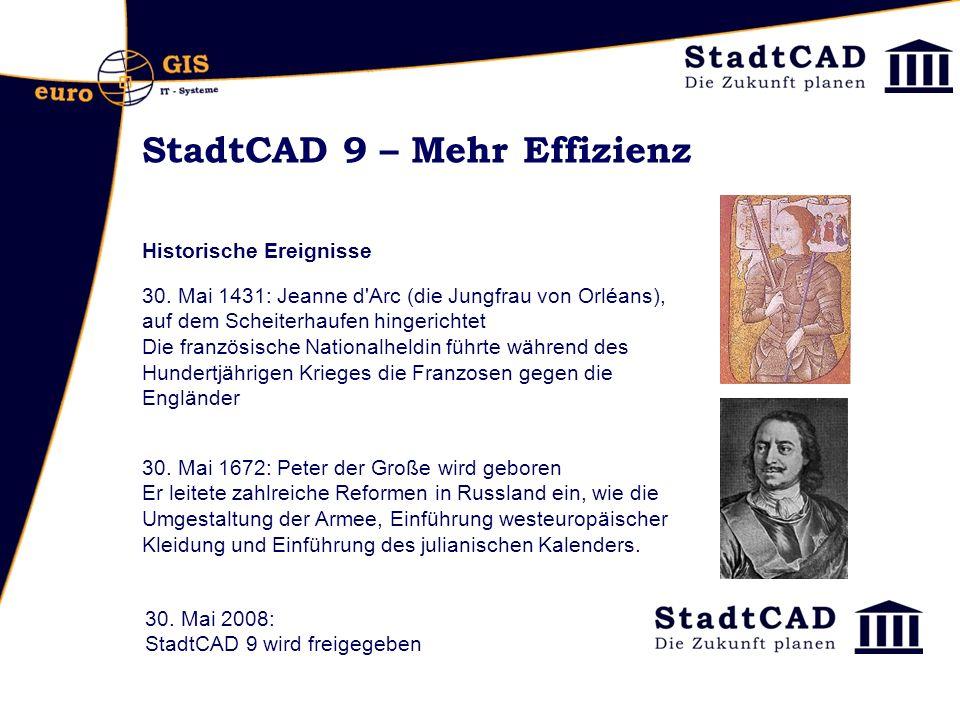 StadtCAD 9 – Mehr Effizienz