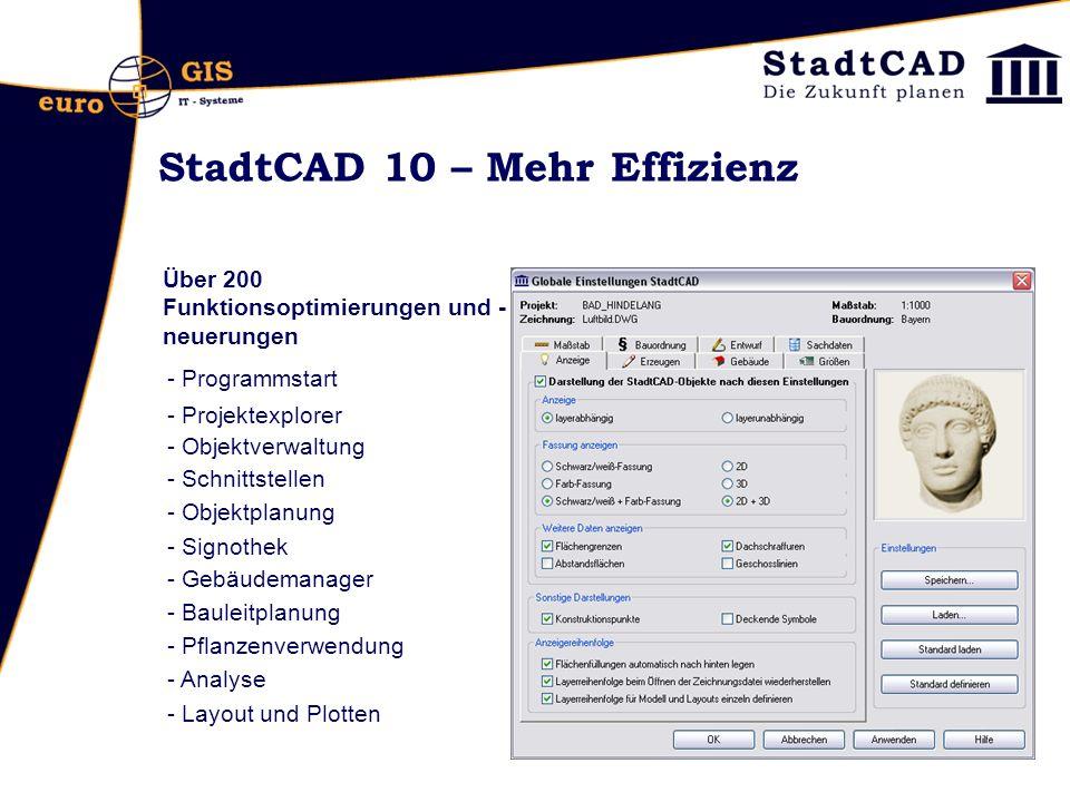 StadtCAD 10 – Mehr Effizienz
