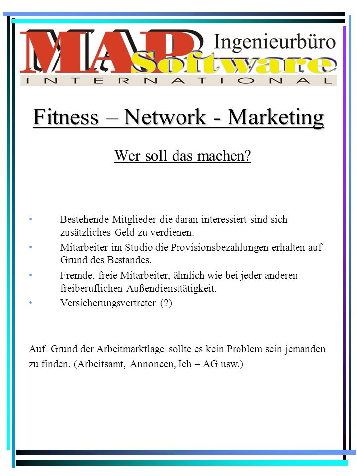 Fitness – Network - Marketing