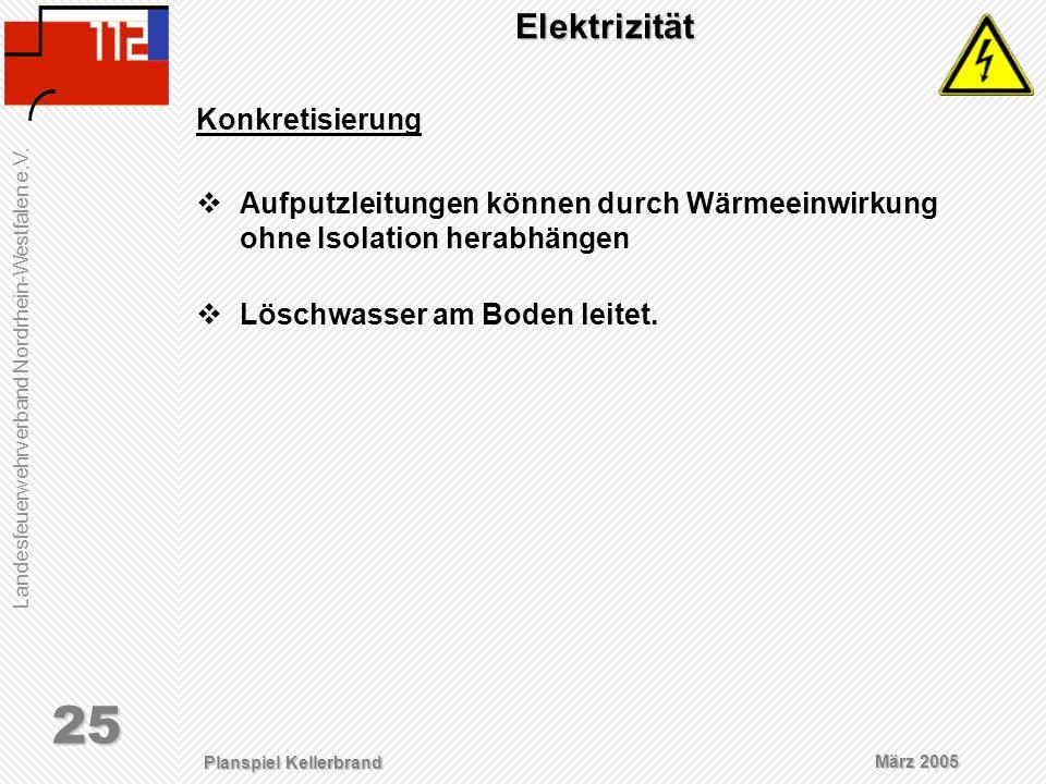 Elektrizität Konkretisierung