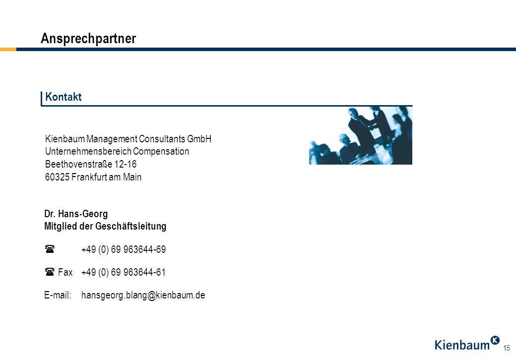 Ansprechpartner Kontakt Kienbaum Management Consultants GmbH