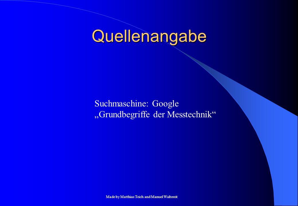 """Quellenangabe Suchmaschine: Google """"Grundbegriffe der Messtechnik"""