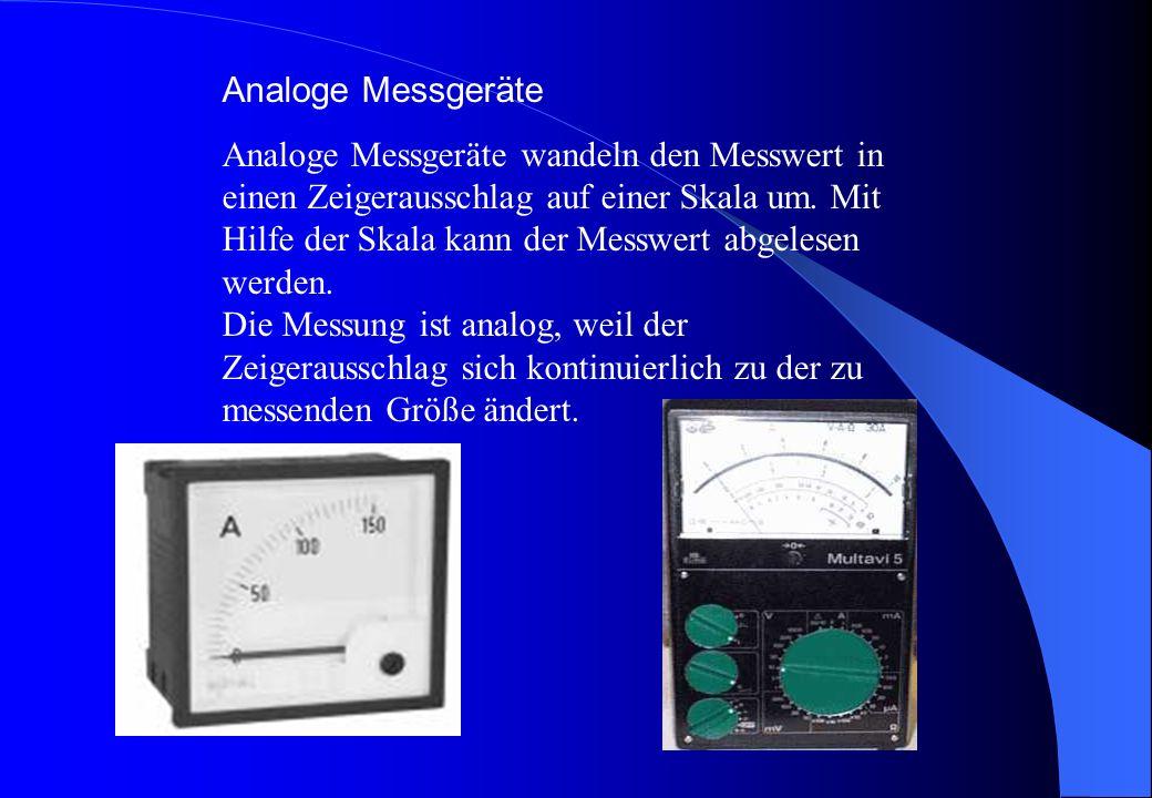 Analoge Messgeräte