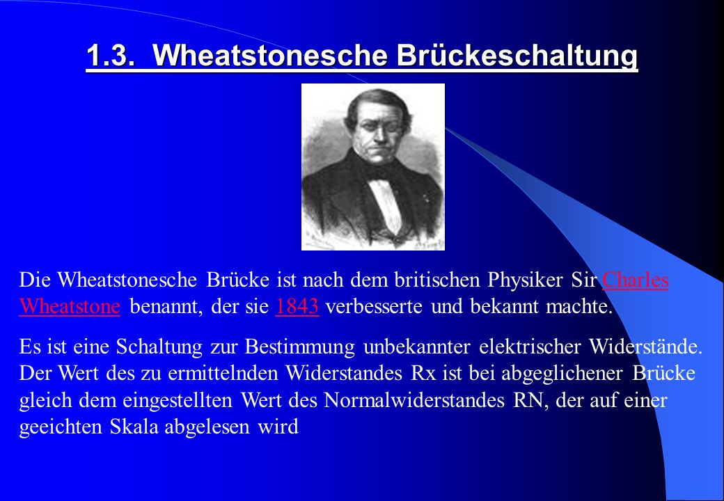 1.3. Wheatstonesche Brückeschaltung