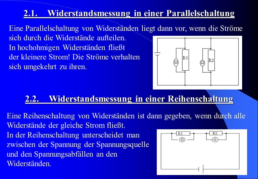 2.1. Widerstandsmessung in einer Parallelschaltung