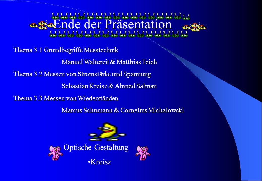 Ende der Präsentation Optische Gestaltung Kreisz